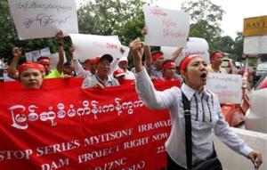 irrawady dam protest